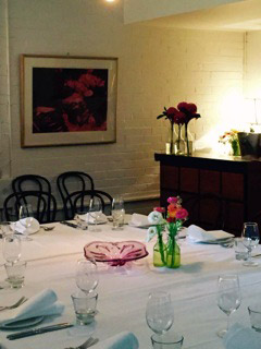view of the private dining room